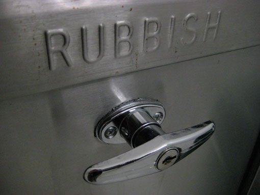 Fire safety advice for refuse chutes